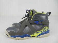 Nike Air Jordan 8 Retro Laney 580528-038 GS Cool Grey/Electric Yellow Size 7Y