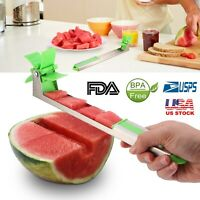 NEW Watermelon Slicer Fruit Cutter Kitchen Utensils Gadgets Stainless Steel US
