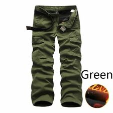 Men Army Cargo Cashmere Warm Pants Military Tactical Trouser Long Pocket Outdoor