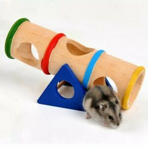 Animal Wooden Roller Toy Game Wooden Swing Small Pet Home Toys Mini Exercise Run
