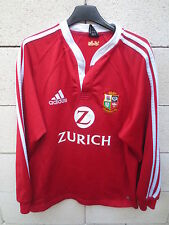 VINTAGE Maillot rugby LIONS BRITANNIQUES shirt ADIDAS NEW ZEALAND 2005 rouge M