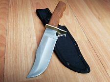 "SCHRADE 8"" Stainless & Wood Handle Fixed Blade Hunter Bowie Knife 1613S"
