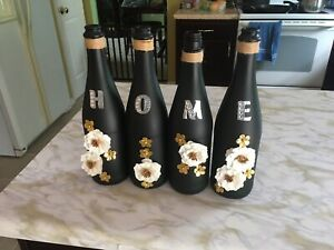 New Bottle Art Decor Black/gold