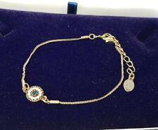 Bracelet Accessorize Gold Tone Blue Stone Small Delicate Costume Jewellery Piece