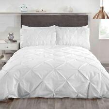 Balmoral Luxury King Size Duvet Set 2 Pillowcases White Pintuck Trim