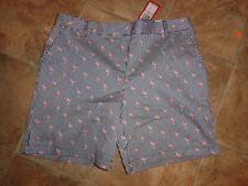 Women's IZOD Stretch Striped Flamingo Shorts Size 10 NWT