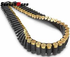 50 Round Shotgun 12 & 20 Gauge Ammo Bandolier Bandoleer Shell Holder Sling Black