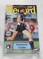 1991 AFL Football Record Melbourne Demons v Carlton Blues Vol.80 No.4