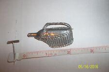 Sterling Silver 925 wine bottle Basket Brooch Pin