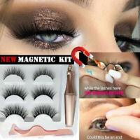 SKONHED 3 Pairs Magnetic Eyelashes Extension W/ Magnetic Eyeliner and Tweezer