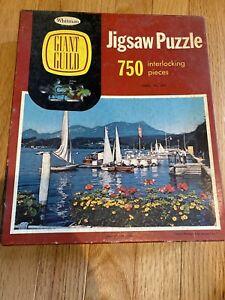 Vintage Whitman Giant Guild Ortisei And Sella Range 750 Piece Puzzle Series 302
