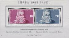 Switzerland 1948 Souv. Sheet # B178 Int'l Philatelic Expo, Basel  MH
