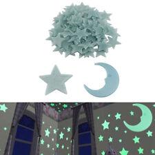100 Piezas Estrellas + 1 Luna Brilla en la Oscuridad Pegatinas Niños