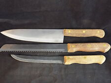 "INOX TRAMONTINA KNIFE SET 8"" Chef 8"" Serrated Carving 6"" Boning Stainless Steel"