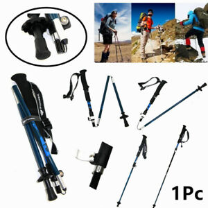 Trekking Walking Hiking Sticks Poles Adjustable Alpenstock anti-shock Folding US