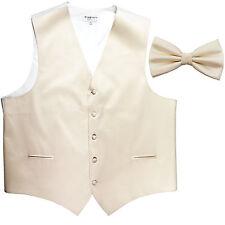 New Men's Formal Vest Tuxedo Waistcoat ivory_Bowtie wedding prom party
