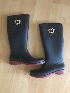 love moschino Wellington Boots