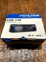 Brand New! Alpine CDE-110 CD/MP3 Car Stereo Receiver