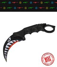 CSGO Karambit Shark Steel knife tactical Counter Strike knive cs go hunting mlg