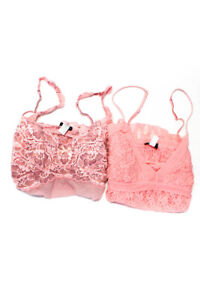 Cosabella Womens Lace Sleep Camisole Pink Size Large Lot 2