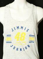 New Jimmie Johnson 48 Nascar Tank Top shirt Tie Back Knot Razor Women's M