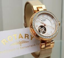 Rotary SWISS MADE Ladies Watch 21 Jewels Mechanical Automatic Project D RRP£390