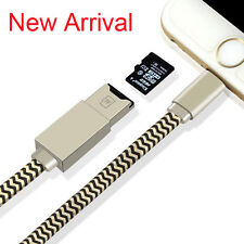 Micro SD TF Card Reader USB Charger Cable For iPhone X 7 8 Plus 5 6s 6 Plus iPad