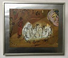 Reproduction d'après Chagall, encadrée et sous verre