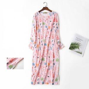 Women's Oversize Sleep Shirt T-Shirt Night Gown 100% Cotton Tee Nightshirt Dress