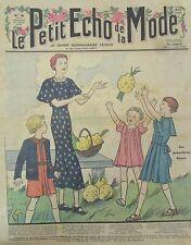 LE PETIT ECHO DE LA MODE N° 9 de 1936 GRAVURE VINTAGE LES PREMIERES FLEURS
