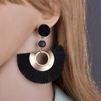 Women Fashion Bohemian Aolly Drop Dangle Tassel Fringe Stud Long Earrings Gift