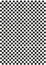 dolls house flooring check black/white tiny tiles
