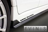 Skoda VRS 2x Side Skirt Stickers Car Decals Graphics DEFAULT BLACK
