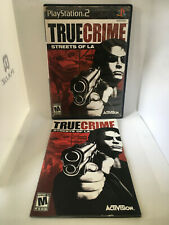 True Crime Streets of LA - Case and Manual NO GAME DISK - PS2