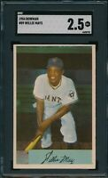1954 Bowman Set Break # 89 Willie Mays SGC 2.5 Not PSA *OBGcards*