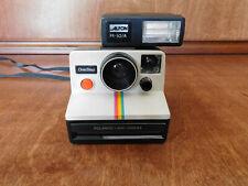 Vintage Polaroid SX-70 Land Camera Striped One Step w/strobe ALFON PR-50A 1965