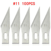 x100 #11 Replacement Hobby Classic Fine Point Blades high steel Craft Knife