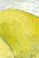 Ben Carrivick - Signed Contemporary Oil, Yellow on White