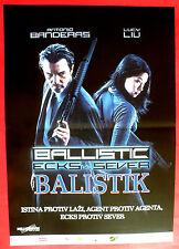 BALISTIC: ECKS VS SEVER 2002 ANTONIO BANDERAS LUCY LIU SERBIAN MOVIE POSTER