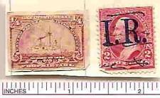 1/4 cent Proprietary and 2c IR overprint on 2 cent