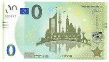 0-Euro-Schein Leipzig Stadtsilhouetten verschiedener Gebäude