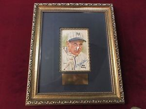 BILL TERRY Perez Steele Autograph Auto Postcard Matted and Framed NY Giants