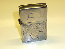 "VINTAGE Antique lighter ""D. & Co. 1289"" with Motif/engraving-India Map-RARE"