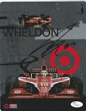 Dan Wheldon Autographed Target Team Photo Card JSA Athenticated