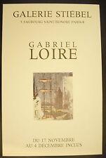 Affiche exposition Gabriel Loire à la Galerie Stiébel