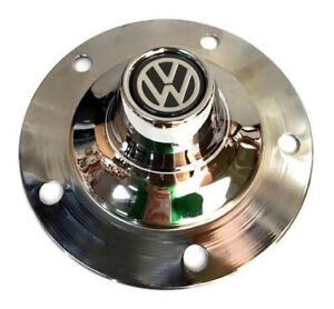 VW Beetle Ghia Wheel Hub Cap Center Cover 4pcs Chromed TYPE2 BUG Classic 5 Lug
