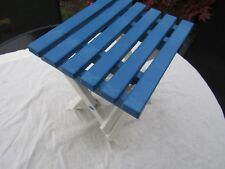 PLASTIC FOLDAWAY PLASTIC STOOL unusual but sturdy design