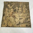 """Victorian Woven Tapestry Fabric Wall Hanging Parlor Made in France 13"""" Vintage"""