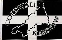 Cornwall Kernow Map Polyester Flag