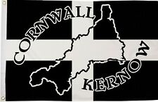 Cornwall Kernow Map Polyester Flag